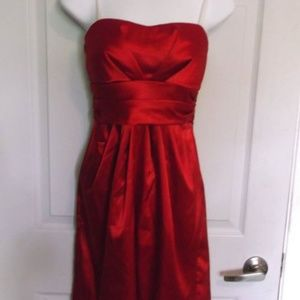 Cassis Red Satin Dress Size 10 P